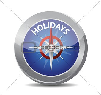 guide to great holidays. compass illustration