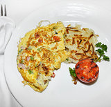Omelet With Vegetables And Bacon