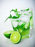 Cold mojito drink
