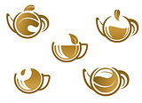 Set of tea icons and symbols