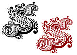 Retro capital letter S