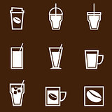 Coffee drinks icons collection