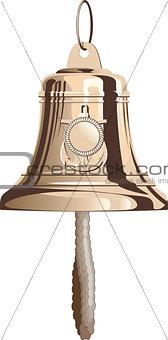 Classical marine brass bell