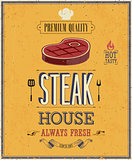Vintage Steak House Poster.