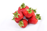 Strawberry fruits on white backgroundS