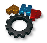 php tag and cogwheel