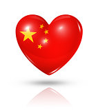 Love China, heart flag icon