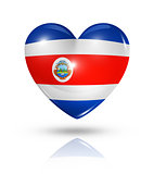 Love Costa Rica, heart flag icon