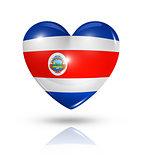 Love Costa Rica, heart flag icon