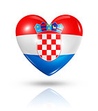 Love Croatia, heart flag icon