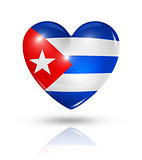 Love Cuba, heart flag icon
