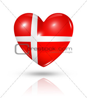 Love Denmark, heart flag icon