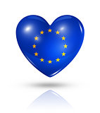 Love European union, heart flag icon