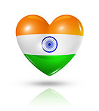 Love India, heart flag icon