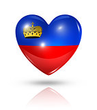 Love Liechtenstein, heart flag icon