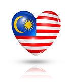 Love Malaysia, heart flag icon