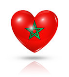 Love Morocco, heart flag icon