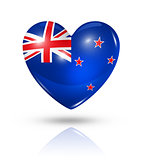 Love New Zealand, heart flag icon