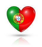 Love Portugal, heart flag icon