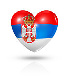Love Serbia, heart flag icon