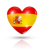 Love Spain, heart flag icon