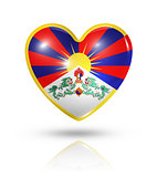 Love Tibet, heart flag icon