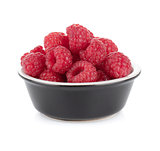 Ripe raspberry small bowl