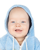 Closeup portrait of smiling cute baby