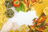 Overhead Italian pasta