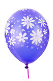 Color balloon with flower decoration