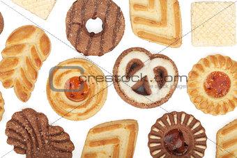 Various cookies pattern