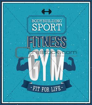 Fitness gym design.