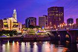 Downtown Hartford, Connecticut Skyline