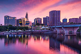 Downtown Hartford, Connecticut Skyline