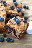 Piece of homemade blueberry cake