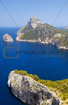 Cape Formentor in the Coast of North Mallorca