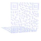 A three-dimensional QR code