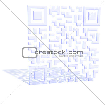A three-dimensional QR code