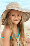 Little girl on the beach portrait