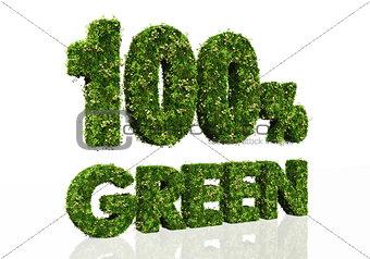 one hundred percent green