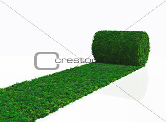 one roll of grass carpet