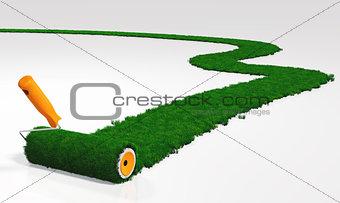 paint a grassy path