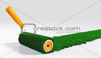 paint a grassy strip