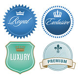 Luxury labels with crown  Crest