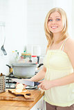 Cute Girl Cooking