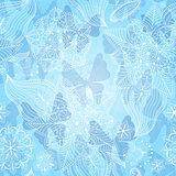 Christmas lacy seamless pattern