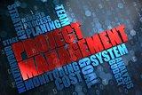 Project Management. Wordcloud Concept.