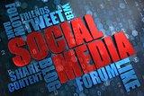 Social Media. Wordcloud Concept.