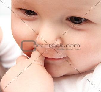 beautiful baby close up