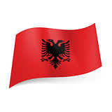 State flag of Albania.